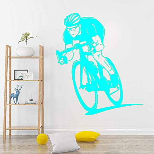 Ajcwhml Schönheit Fahrrad Wandaufkleber Vinyl abnehmbare Dekoration