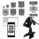NYEAR Handheld verdrahteter USB-Barcode-Scanner, 1D und 2D Handheld Inventar Barcode-Leser mit automatischer Scan für Computer Windows mit USB-Kabel mit 1D und 2D (Bring Support)