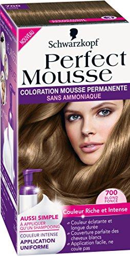 schwarzkopf perfect mousse coloration permanente blond fonc 700 - Coloration Mousse