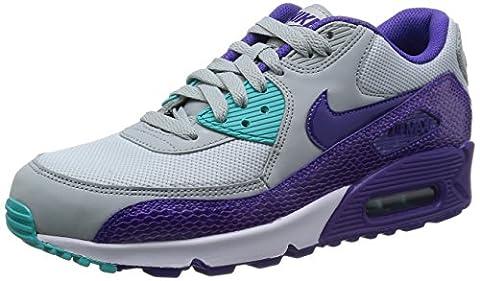 Nike Air Max 90 325213-036 Damen Laufschuhe Training Mehrfarbig (Slvr Wng/Crt Prpl-Hypr Grp-Hyp)