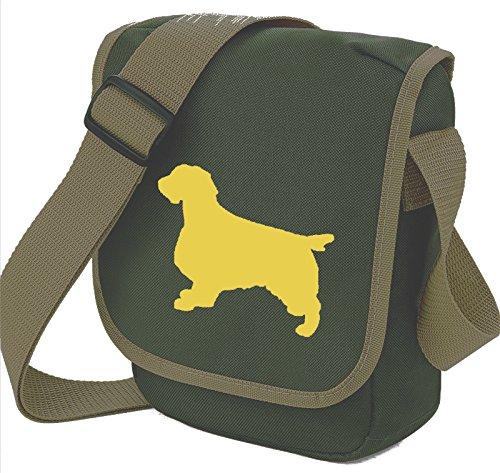 Bag Pixie - Borsa a tracolla unisex adulti Fawn Dog on Olive Bag