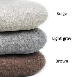 Coussin En Lin Tatami Coussin Rond Épaissi Style Japonais Doux Confortable Lumière Rembourré Grand Tissu Coussin De Sol…