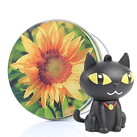 USB Memory Stick Flash Drive Black Cat Kitty Kenor 8GB/16GB/32GB/64GB with Key Chain Gift/Present- 16GB Sunflower