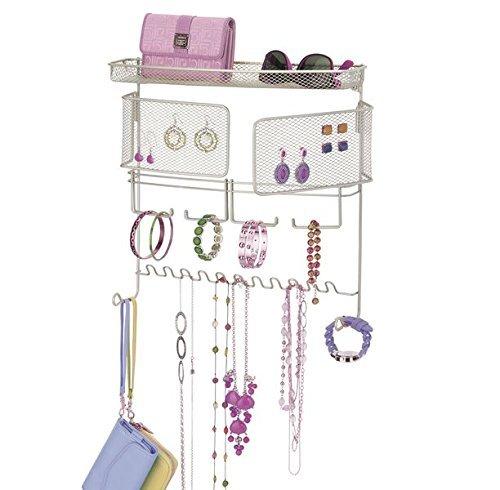 mDesign-Colgador-de-joyas–El-perfecto-joyero-organizador-para-pendientes-y-otros-accesorios–Colgador-ideal-para-colgar-collares-o-pulseras-y-organizar-bisutera–plateado-mate