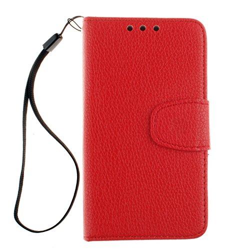 BONROY® Coque pour Nokia Lumia 530,Housse en cuir pour Nokia Lumia 530,imprimé étui en cuir PU Cuir Flip Magnétique Portefeuille Etui Housse de Protection Coque Étui Case Cover avec Stand Support Avec des Cartes de Crédit Slot et Fonction Support pour Nokia Lumia 530