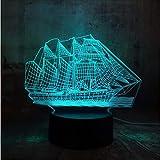 2018 schöne einhorn romantische geschenk 3d led tischlampe 7 farbwechsel nachtlicht raumdekor lust...
