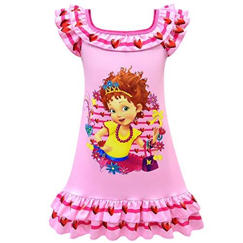 QYS Niedlichen Cartoon Schmetterling Mädchen Phantasie Nachthemd Nachthemd,pink,110cm (Puppe Mädchen Und Nachthemd)