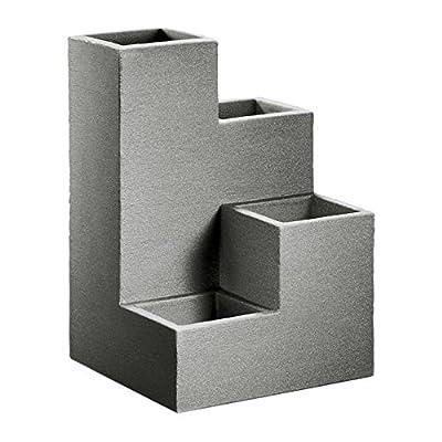 Kölle Pflanzkübel-Wendeltreppe Kubus grau, 40x40x60 cm, 55 Liter Erdvolumen von Kölle auf Du und dein Garten