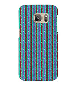 Lines Road Blue Green Red 3D Hard Polycarbonate Designer Back Case Cover for Samsung Galaxy S7 Edge :: Samsung Galaxy S7 Edge Duos G935F