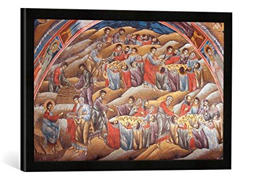 Gerahmtes Bild von Fresko Feneós, Agios Georgios, Speisung 5000