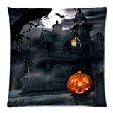 Cuscino di Halloween, Longra Cassa del cuscino di Halloween della cotone di Halloween 18 'x18' felice (D)