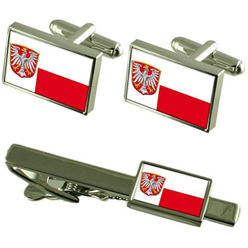 Frankfurt am Main Stadt Deutschland Fahne Manschettenknöpfe Krawattenklammer Box Geschenk Set