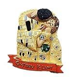 Imán para nevera con diseño de Gustavo de Viena de Austria Klimt KISS World Resina 3D, ideal como regalo de turista, hecho a mano
