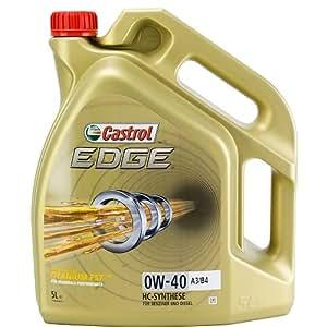 castrol 24875 edge engine oil 0w 40 a3 b4 5l german label. Black Bedroom Furniture Sets. Home Design Ideas