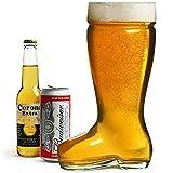 bar@drinkstuff Bicchiere da birra a forma di stivale gigante, capacità 2 litri, in vetro ultra resistente