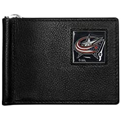 NHL Columbus Blue Jackets Leather Bill Clip Wallet