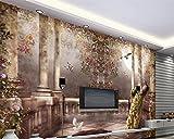 Wapel Im Europäischen Stil Garten Römische Säule Dreidimensionale Öl Malerei 3D Wohnzimmer Schlafzimmer Tv Wallpaper Für Wände 3 D Seidenstoff 400x280CM