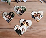 #8: Set of 5 Photo Fridge Magnet (3 inch x 3 inch , Heart shape) , Customized Fridge Magnet , Personalized Fridge Magnet , Home Decor gift , Birthday Gift , latest gift ,Customised Fridge Magnet , Personalised Fridge Magnet