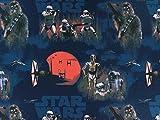 Baumwollstoff Star Wars blau/rot, Meterware ab 0,5 m/Top-Qualität / 100% Baumwolle