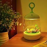 Nachtlicht Kinder, LIFU LED Nachtleuchte DIY Micro Landschaft Nacht Licht Touch Control Kinderlampe mit 7 Farben Schlummerleuchte für Haus, Schlafzimmer, Kinderzimmer, Geburtstag- Kaninchen