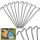 Yaheetech 50 x Zeltheringe Zeltnagel Erdnägel Heringe 20 cm für Zelt aus verzinktem Stahl