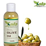 #3: Kalp 100% Pure Cold pressed, Extra Virgin Olive Oil for Skin, Hair and Massage (100ml)