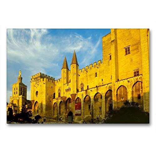 Premium Textil-Leinwand 90 x 60 cm Quer-Format Avignon, Papstpalast   Wandbild, HD-Bild auf Keilrahmen, Fertigbild auf hochwertigem Vlies, Leinwanddruck von Reinhold Ratzer