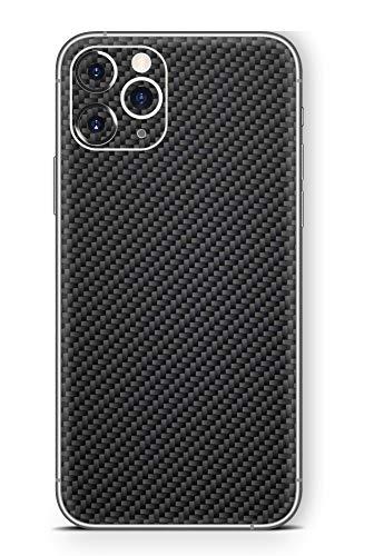 Skins4u Ultra Slim Schutzfolie für iPhone 11 Pro Max Skins Matte Oberfläche Aufkleber Skin Klebefolie Kratzfest Case Cover Folie Carbon