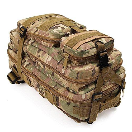 30l 3P zaino tattico, militare tattico zaini zaino per campeggio e trekking sport all' aria aperta zaino, Desert Digital CP