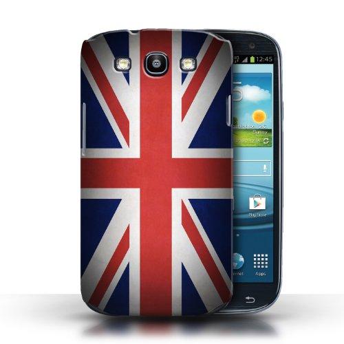 Coque en plastique pour Samsung Galaxy S3/SIII Collection Drapeau - Nigeria Royaume-Uni/Britannique