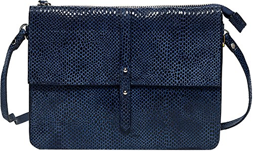 Petite Mendigote Women's Soleil Exotic Leather Clutch In Blue In Size One Size Blue