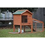 BUNNY BUSINESS Rabbit Hutch with Integrated Run and Enclosure, Rabbit Hutches Rabbit Runs 140 x 65 x 100 cm (COVER ONLY) 9