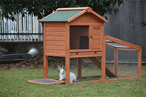 BUNNY BUSINESS Rabbit Hutch with Integrated Run and Enclosure, Rabbit Hutches Rabbit Runs 140 x 65 x 100 cm (COVER ONLY) 3