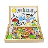 Rompecabezas Magnetico Madera, Puzzle Magnetico, Magnético Números Alfabeto De Madera Dibujo Escribir Junta 2en 1Puzzles 93+ Piezas Para Niños 3456 Años
