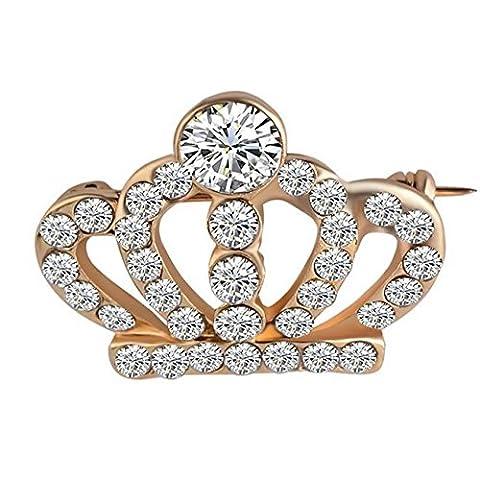 Costume Trifari Bijoux - Hommes Et Femmes ÉPinglette Mode Diamant Couronne