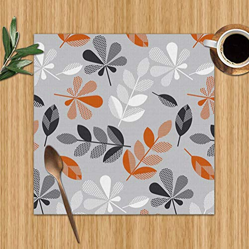 best gift Decorative Fall Leaves Surface Abstract Nature Washable Placemats for Dining Table Double Fabric Printing Polyester Place Mats for Kitchen Table Set of 6 Table Mat 12