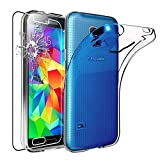 ebestStar - Compatible Coque Samsung S5 G900F, Galaxy S5 New G903F Neo Etui Housse Silicone Gel Anti-Choc Ultra Fine Invisible,...