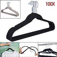 shoze Velvet Hangers 100 Non Slip Hangers Velvet Suit Hanger Pack of 100 Standard
