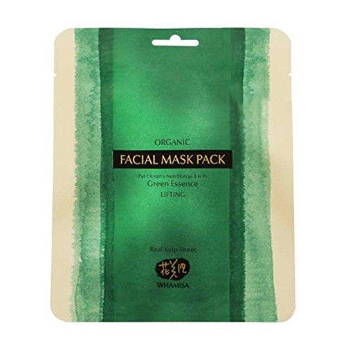 WHAMISA - Masque Visage - Ingrédients marins actifs - Convient à tous types de peaux - Sérum hydratant aux algues et au bambou - Effet lifting - Réduit les rides - Rafraîchissant - Naturel - 35gr