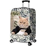 MISSMAO_FASHION2019 Elastisch Kofferhülle Kofferschutzhülle Gepäck Cover Reisekoffer Hülle Kofferschutz mit Reißverschluss Katze Serie Style3 XL(Fit 29-32 Zoll Koffer)