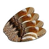 Brot–Brot Roggen Italienisches French doppelseitig oval, Nagelfeile Emery Board 4Stück