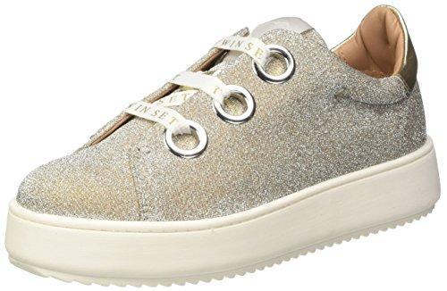 TWIN SET Cs7ph1, Sneaker a Collo Basso Donna Oro (Platino)