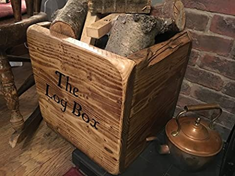 (NEW) Wooden log box,Very strong log holder,Logs Wood and Kindling,Logs storage