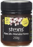 Steens Raw Manuka Honey UMF 24 (MGO 1122) 250g | Pure Unpasteurized NZ Honey | With Naturally Occuring Enzymes and Beebread