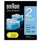 Braun Cartouches De Recharge Clean&Renew CCR, Nettoyant Pour Rasoir Pack De2