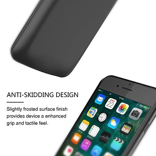 Custodia iPhone 7 [Ricaricabile], BasicStock 5200mAh Alta capacità Esterno Battery Cover Power Caricabatterie Protettivo Case Cover(Nero)