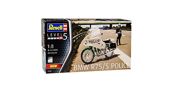 B M W R75 5 Polizei Police Weiss Grün 1941 1944 07940 Bausatz Kit 1 8 Revell Modell Motorrad Mit Oder Ohne Individiuellem Wunschkennzeichen Spielzeug