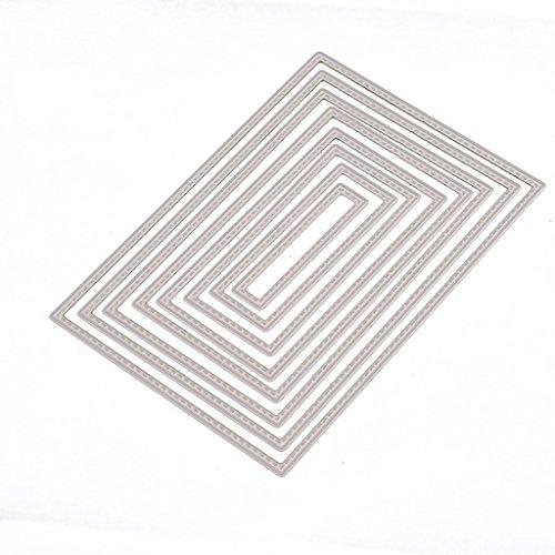 Ruda Stanzschablone rechteckig DIY Scrapbooking Prägung Album Papier Karte Basteln