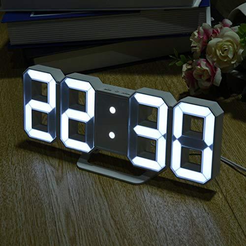 Multi-use 8-förmige LED-Anzeige Desktop Digital Tischuhren Thermometer Hygrometer Kalender Wetterstation Vorhersage Uhr (Digital-thermometer-desktop)
