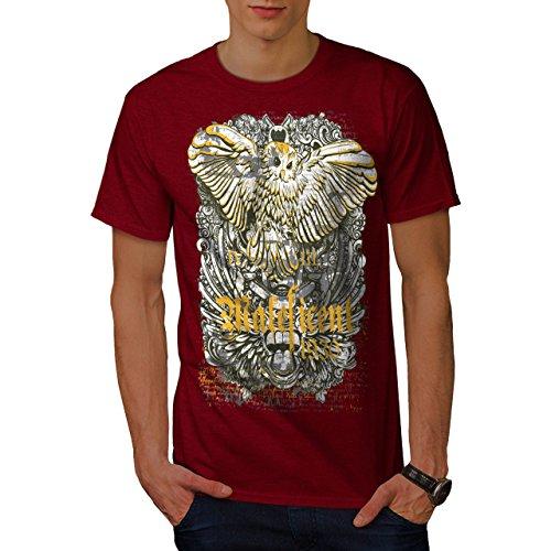 wellcoda Maleficent Eule Tier Männer T-Shirt, Falke Grafikdesign gedruckt Tee (- Stoff Maleficent)